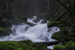 Abajo de las cascadas de las colinas Fotos de archivo