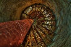 Abajo de las escaleras del faro Imagen de archivo libre de regalías