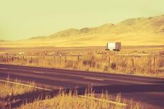 Abajo de Nevada Highway Fotos de archivo libres de regalías