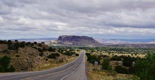 Abajo del camino, New México Fotografía de archivo libre de regalías