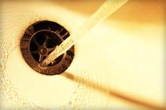 Abajo del dren Foto de archivo libre de regalías