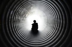 Abajo del túnel Fotografía de archivo libre de regalías