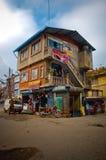 Abajo el mercado arriba contiene Foto de archivo