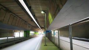 Abajo en el camino del subterráneo Fotos de archivo