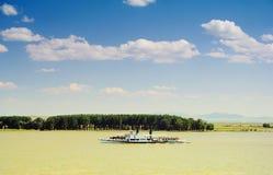 Abajo en el río de Danubio Imágenes de archivo libres de regalías