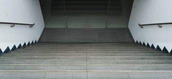 Abajo escaleras calzada e imagen de la foto del fondo Foto de archivo libre de regalías