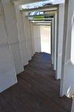 Abajo escaleras con la cerca al camino Fotografía de archivo libre de regalías