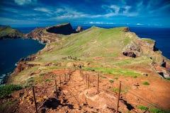 Abajo escaleras en el Ponta de Sao Lourenco Fotos de archivo libres de regalías