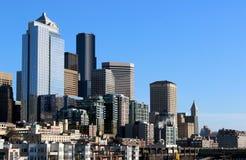 Abajo horizonte de Seattle Fotos de archivo libres de regalías