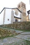 Abajo iglesia de Candelario Fotografía de archivo libre de regalías