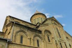 Abajo a la derecha de la catedral de Svetitskhoveli Fotografía de archivo libre de regalías
