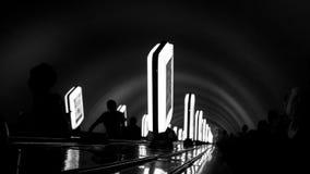 Abajo a la línea del metro Imagen de archivo libre de regalías