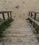 Abajo a la playa Fotografía de archivo libre de regalías
