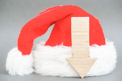 Abajo para la Navidad Imágenes de archivo libres de regalías