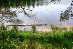 Abajo por el lago tomamos un paseo Imagenes de archivo
