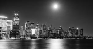 Abajo torre de la libertad de la ciudad NYC Imagen de archivo libre de regalías
