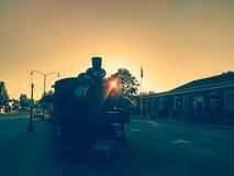 Abajo tren de la ciudad Imagen de archivo libre de regalías