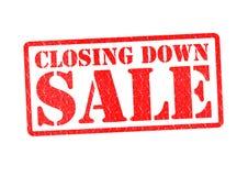 Abajo venta cerrada Imágenes de archivo libres de regalías
