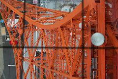 Abajo visión desde de la torre de Tokio Fotos de archivo libres de regalías