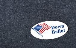 Abajo votación Imagen de archivo