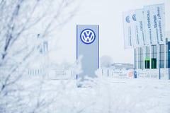 ABAKAN, RUSSIA - JANUARY 3, 2016. Volkswagen Royalty Free Stock Photos