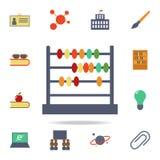 Abakus farbige Ikone Ausführlicher Satz farbige Ausbildungsikonen Erstklassiges Grafikdesign Eine der Sammlungsikonen für Website vektor abbildung