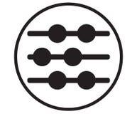 Abakus-Ikonen-Design Lizenzfreies Stockfoto
