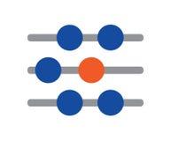 Abakus-Ikonen-Design Stockfoto