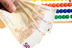 Abakus und Euro Lizenzfreie Stockfotografie