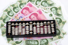 abakusa chińczyka pieniądze Fotografia Royalty Free