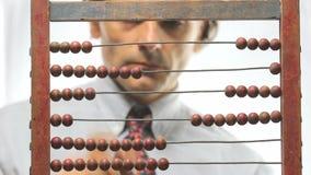 Abakusa hrabiowski pieniężny pojęcie zdjęcie wideo
