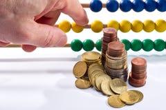 Abakusperlen mit Euro, Lizenzfreie Stockfotos