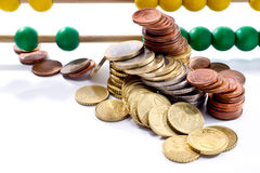 Abakusperlen mit Euro, Lizenzfreies Stockfoto