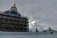 Abalak Återställande av den sakrala Znamensky templet Arkivbild