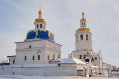 Abalak. Sakral Znamensky tempel Royaltyfria Foton