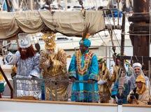 Abalgata De Reyes Magos in Barcelona Stockfoto