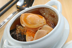Abalone. An abalone cooked with Chinese herb Stock Photo