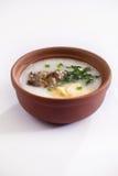 Abalone and blackfungus soup Stock Photo