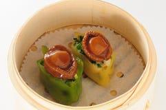 Abalone dumpling. Steam abalone dumpling dim sum Stock Photos