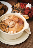 Abalone and herb soup, Chinese food style Royalty Free Stock Photography