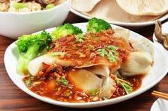 Abalone mushroom salad Stock Photography