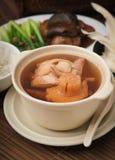 Abalone- och örtsoppa, kinesisk matstil Royaltyfri Foto