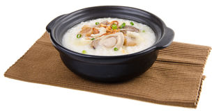 Abalone porridge rice gruel Royalty Free Stock Photos
