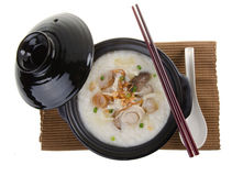 Abalone porridge rice gruel Stock Photo