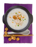 Abalone porridge rice gruel Stock Photo