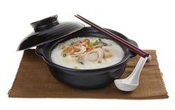 Abalone porridge rice gruel Royalty Free Stock Photo