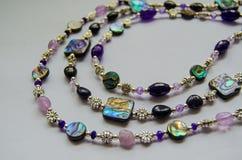 Abalone skorupy jewellery Zdjęcia Royalty Free