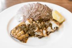Abalone steak Stock Photo