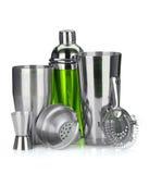 Abanador de cocktail, filtro, copo de medição Fotografia de Stock Royalty Free