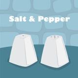 Abanador de sal e de pimenta foto de stock